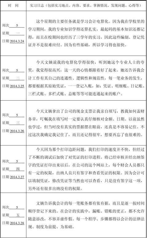 大学生会计实习周志_【会计实习报告8周日志+1 1200字】范文118