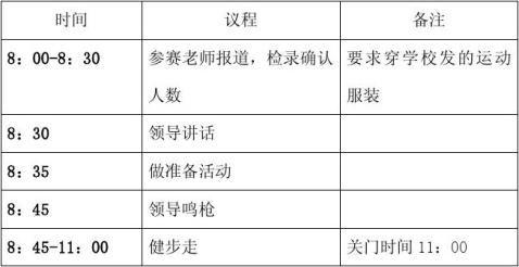 汉台中学教职工健步走活动方案2