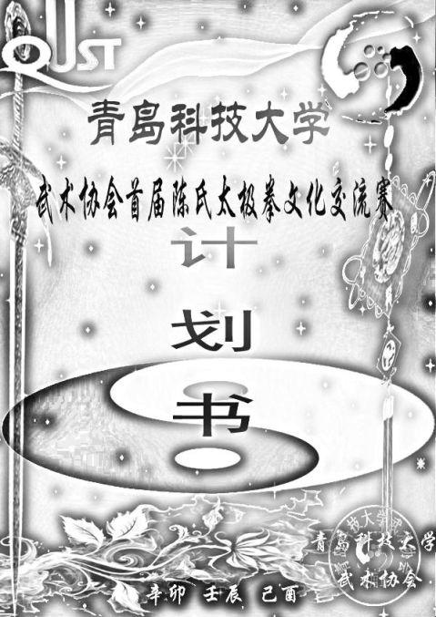 青岛科技大学首届武术协会陈氏太极拳文化交流赛总策划及总结