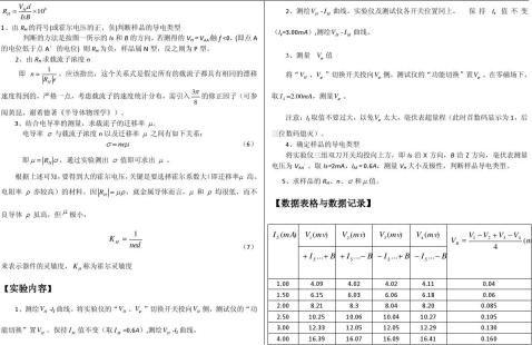 大学物理实验报告系列之霍尔效应