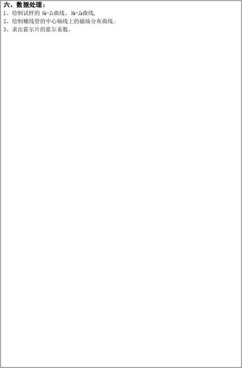 大学物理实验霍尔效应报告模版