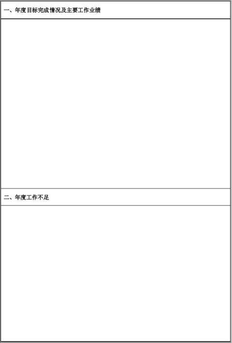员工年度工作总结及工作计划表