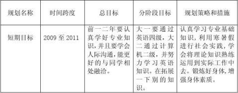 大学生职业生涯规划报告