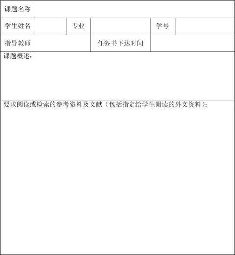 三峡大学开题报告外文翻译论文装订排版顺序及格式要求