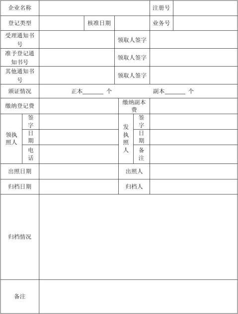 公司注销登记申请书样表