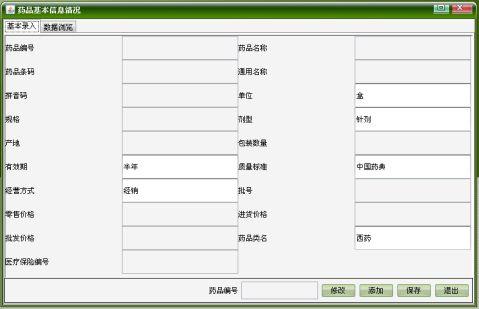 医院药品管理系统系统设计报告