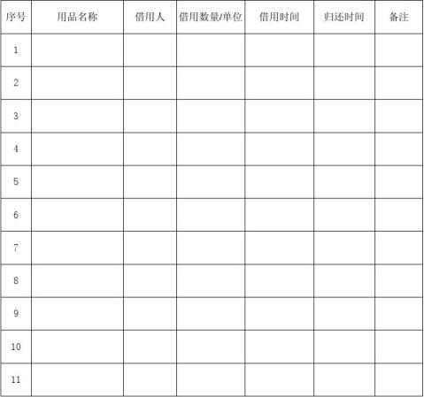 办公用品采购计划系列表