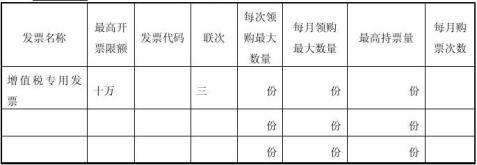 领取增值税专用发票领购簿申请书