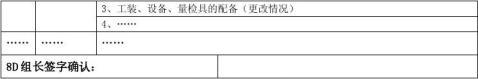质量管理8D质量改进报告模板