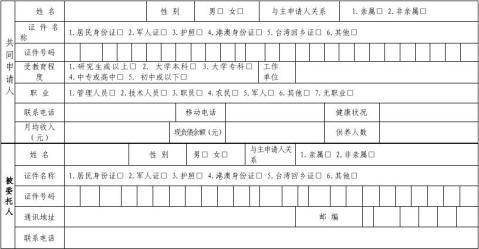 1中国工商银行个人住房贷款申请表总行版20xx2