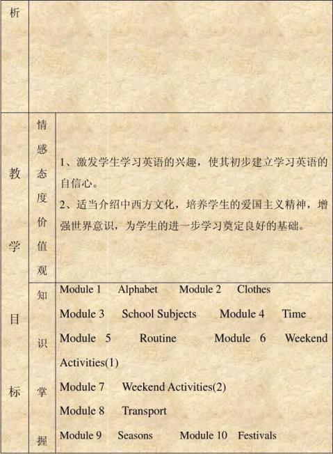 二年级新标准英语第三册教学计划