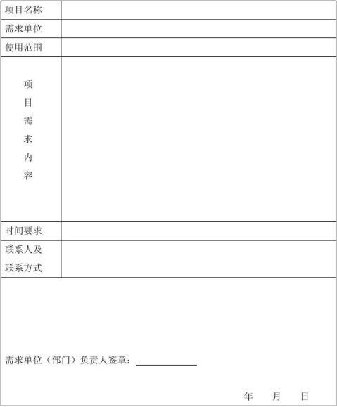 软件项目立项意向书