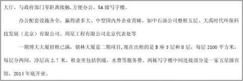 亦庄写字楼市场调查分析报告