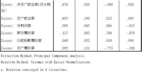 基于SPSS170的上市公司财务报表分析