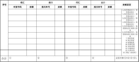 现场核查企业总量差额报告表